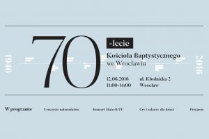 70-lecie Kościoła Baptystów weWrocławiu